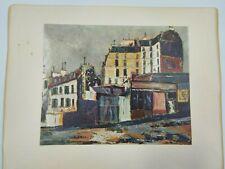 Maurice Utrillo Rue Ravignon (about 1911) - building street scene