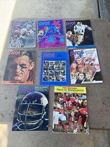 8 Pro Football Magazine LOT 1970's (X8)