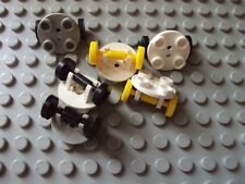 Lego Minifig ~ Mixed Lot Of Plane / Jet Wheels Tires Skate Small #ghyu