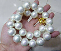 """RARE Huge 18mm White South Sea Shell Pearl Necklace 18"""" AAA+"""