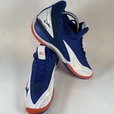 Mizuno Wave Impulse Tennis Shoes Blue, White, Orange Men Size 9