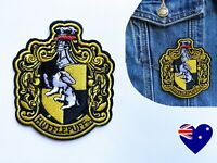 Harry Potter, Hufflepuff School Crest - Iron On Patch Embroidered Badge DIY