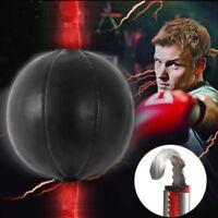 Double End Boxing Speed Ball Punching Bag Dodge Gym Training Black Pu Leatherk6