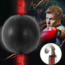 Double End Boxing Speed Ball Punching Bag Dodge Gym Training Black Pu Leather IC