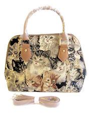 """Tapestry Signare """"Cats & Kittens"""" Convertable Handbag, Shoulder Bag"""
