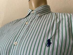 """Ralph Lauren Men's Striped Classic Fit Long Sleeve Dress Shirt 15 1/2-32/33"""" **"""