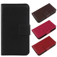 For Samsung Galaxy Xcover 2 S7710 - Genuine Real Leather Cover Flip Case Wallet