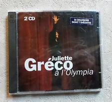 "CD AUDIO FR/ JULIETTE GRÉCO ""À L'OLYMPIA"" 2XCD PROMO 1992  NEUF SOUS BLISTER"