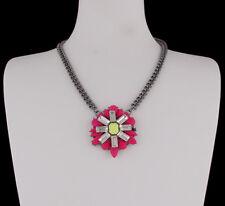 Halskette Statement Kette Gliederkette Strass kristall pink chrom sweet deluxe