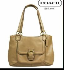 COACH  #24961  Campbell Camel Leather Shoulder Bag NWT Retail $418