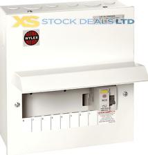 Wylex NMRS806 Amendment 3 Metal 8 way Consumer Unit With 100A 30mA RCD Isolator