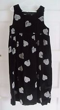 Girls Boutique Garnet Hill Black Velvet Hearts Jumper Party Dress sz 8 Maine USA