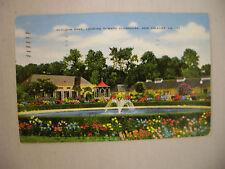 VINTAGE LINEN POSTCARD AUDUBON PARK & CLUBHOUSE NEW ORLEANS LOUISIANA 1949