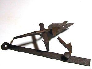 Clenche ancienne complète fer forgé serrure verrou poignée porte XVIIIe XIXe