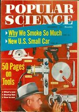 1958 Popular Science Magazine: Why We Smoke So Much/50 Pages on Tools/Small Car