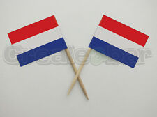 72 Dutch Flag Picks -  Buffet Sandwich Cupcake Toppers - HOLLAND Flags