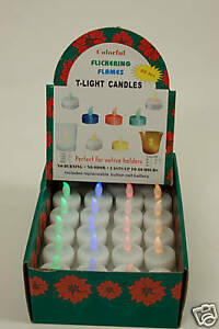 40 COLOURED LED BATTERY LIGHTS RED, YELLOW GREEN & BLUE FREE P&P