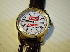 TWA Trans World Airways, Boeing 747 Wrist Watch, Retro 1970-80's Vintage Dial.