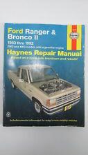 Ford Ranger & Bronco II, 1983 - 1992 Haynes Manual 36070 ISBN 1563920662