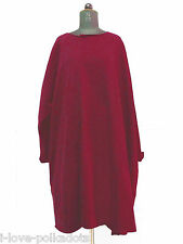 Les Moutons Noirs Sweatshirt Kleid Big Shirt neu L red Oversize Dress NWT