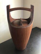 Vintage Modernist Modern Dansk International Designs Blonde Wood Ice Bucket