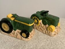 John Deere Tractors Salt and Pepper Shakers Ceramic Set -Licensed Product