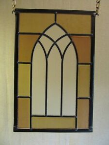 Newly crafted TRADITIONAL Stained Glass Window Panel GOTHIC WINDOW 210mm x 326mm