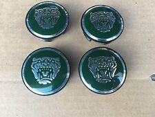 NEW JAGUAR SET OF 4 GREEN II JAG WHEEL HUB CAPS LOGO RIM 59MM COVER EMBLEM CAP