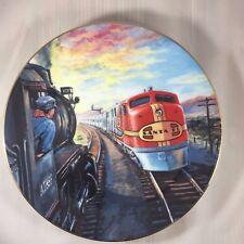 The Super Santa Fe Chief 1991 The Golden Age of American Railroads Plate