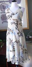 Jones New York Petite Crinkle Silk Drop Waist Dress 4P MINT