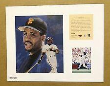 Barry Bonds San Franscisco Giants 1997 MLB Baseball 11x14 Lithograph Print