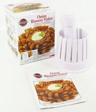 Norpro Blooming Onion Blossom Maker, White, Flower Fry Slicer With Core Remover