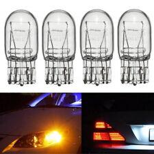 4PCS T20 7443 W21/5W R580 DRL Turn Signal Stop Brake Tail Light Bulb Amber Clear