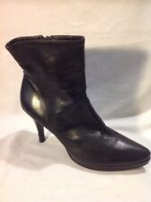Next Black Ankle Leather Boots Size 7
