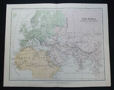 Antique Map: The Ancient World by Alexander Keith Johnston, Classical Map, 1880