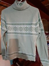 SONOMA LIFE+STYLE Womens Cable-Knit Cowlneck  Sweater light green Size MED