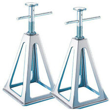 """Aluminum Stack Jack Stand Secure 6000lbs Lift RV Adjustable Height 11""""- 17"""" 2pcs"""
