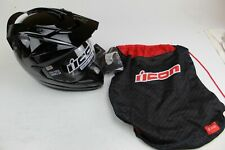 ICON VARIANT HELMET SOLID BLACK SIZE XS PART # 0101-4746 *