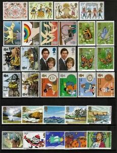 GB 1981 Complete Commemorative Collection Under Face Value Superb M/N/H