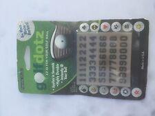 Golf Dotz ID Ball Marker Transfers - Numbers 0-9