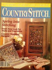 COUNTRY STITCH - MAY / JUN 1990 - GOOD - WEDDING SAMPLER / SPRING -SEE PICS