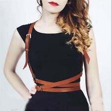 Women Leather Harness Punk Gothic Wrap Strap Body Belt Cage Adjustable Shoulder