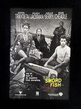 2001 Swordfish Movie Poster T Shirt Sz L John Travolta Halle Berry Hugh Jackman
