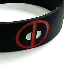 deadpool logo mask silicone repeat pattern wristband marvel