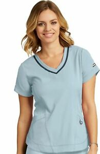 "Grey's Anatomy #7187 V-Neck Detailed Scrub Top in ""Moonstruck"" Size XL"