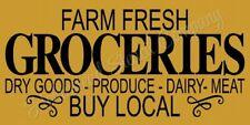 "Reusable Stencil 8442 N 12""x24"" Farm Fresh Groceries- Mylar Sign Stencil"