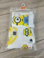 NEW Official Despicable Minions Vests 2 PACK Cotton Vests White 3-4 YRS A163-14