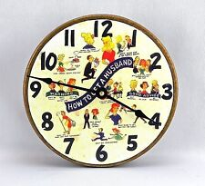 New! Rare, How To Get A Husband All Metal 8 Inch Quartz Wall Clock-99