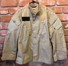 Men's TRU-SPEC Khaki Tan Tactical Response Uniform Shirt Size: Medium / Regular