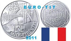 10   EURO   REGION   COMMEMORATIVE  2011   MIDI  PYRENEES     ARGENT   2011